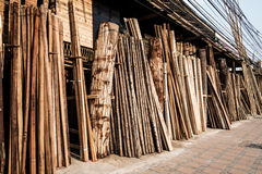 Raw wood stored Stock Photos