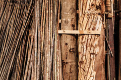 Raw wood stored Royalty Free Stock Photos