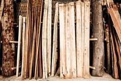 Raw wood stored Stock Image