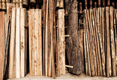 Raw wood stored Stock Photography