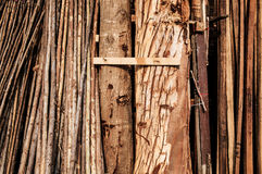 Raw wood stored Stock Images