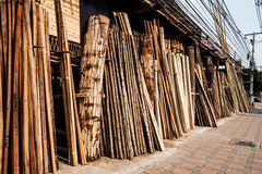 Raw wood stored Royalty Free Stock Photography