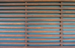 Raw wood, wooden slatted fence or lath wall background. Royalty Free Stock Photos