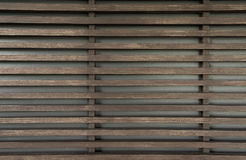 Raw wood, wooden slatted fence or lath wall background, vintage Royalty Free Stock Images