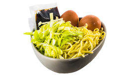 Raw yakisoba ingredient ready for cook Royalty Free Stock Photo