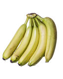 Raw Yellow bananas with Water drops Royalty Free Stock Images