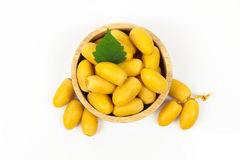 Raw Yellow Date Palm Or Dates Royalty Free Stock Image