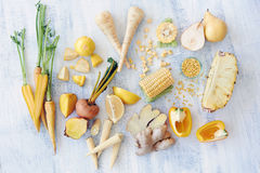Raw yellow foods royalty free stock images
