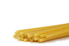 Raw yellow macaroni Stock Image