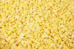 Raw yellow mung beans Stock Photos