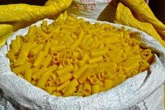 Indian Yellow Pasta Stock Photos