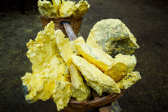 Raw yellow sulfur Stock Photo