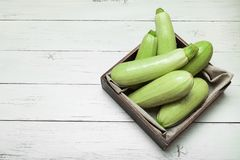 Raw zucchini, biological agriculture. Healthy diet. Copy space for text.  royalty free stock photography