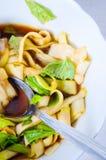 Raw zucchini pasta Royalty Free Stock Photo