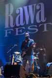 Rawa蓝色节日2014年:罗伯特伦道夫&家庭带 免版税库存照片