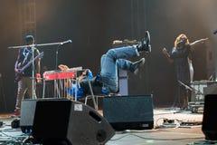 Rawa błękitów festiwal 2014: Robert Randolph & Rodzinny zespół Zdjęcia Stock