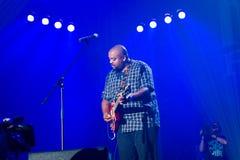 Rawa Blues Festival 2014: Shawn Holt & The Teardrops. KATOWICE, POLAND - OCTOBER 11: Shawn Holt & The Teardrops at Rawa Blues Festival - The world's biggest Royalty Free Stock Photos