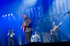 Rawa Blues Festival 2014: Shawn Holt & The Teardrops. KATOWICE, POLAND - OCTOBER 11: Shawn Holt & The Teardrops at Rawa Blues Festival - The world's biggest Stock Image