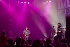 Rawa Blues Festival 2014: Shawn Holt & The Teardrops. KATOWICE, POLAND - OCTOBER 11: Shawn Holt & The Teardrops at Rawa Blues Festival - The world's biggest Royalty Free Stock Image