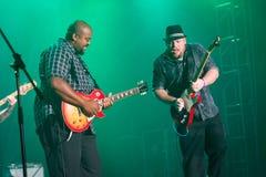 Rawa Blues Festival 2014: Shawn Holt & The Teardrops. KATOWICE, POLAND - OCTOBER 11: Shawn Holt & The Teardrops at Rawa Blues Festival - The world's biggest Stock Photo