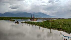 Rawa parquant le lac image libre de droits