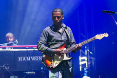 Rawa slösar festivalen 2014: Robert Randolph & familjmusikbandet Royaltyfria Bilder