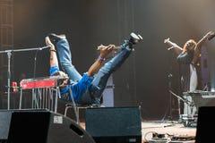 Rawa slösar festivalen 2014: Robert Randolph & familjmusikbandet Arkivbilder