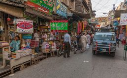Rawalpindi Bazaar, Pakistan Stock Photo