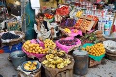 Bazar de rajah à Rawalpindi, Pakistan Image libre de droits