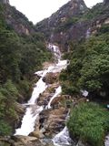 Rawana瀑布在埃拉,斯里兰卡 库存照片