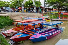 Rawapening, Σεμαράνγκ, κεντρική Ιάβα, Ινδονησία στοκ εικόνες