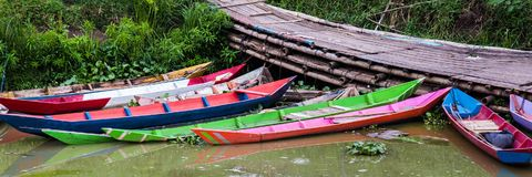 Rawapening, Samarang, Java centrale, Indonesia fotografia stock libera da diritti