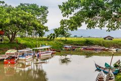 Rawapening, Samarang, Java centrale, Indonesia immagine stock libera da diritti