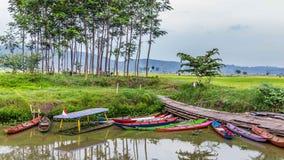 Rawapening, Samarang, Java centrale, Indonesia fotografia stock