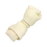 Rawhide Dog Bone on White Background stock photography