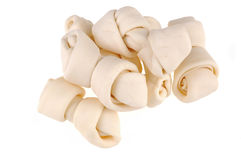 Rawhide Dog Bones Stock Images