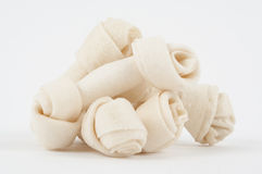 Rawhide dog bones. Dog chew toy Royalty Free Stock Images