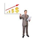 Rawing growth dollar Royalty Free Stock Photo