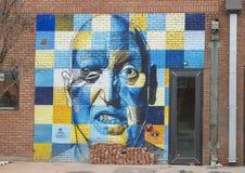Rawlins för ` för 42 väggmålning djup ` av Steve Hunter, djupa Ellum, Texas Royaltyfri Foto