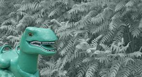 Rawr jestem niebezpiecznym klingerytem, parkowy Dino obraz stock