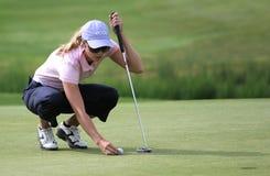rawson för anna turnerar europeisk golfdamtoalett royaltyfria bilder