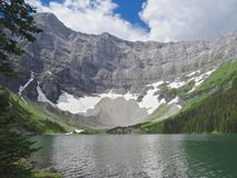 Rawson Lake, Kananaskis Country, Canada. The Beautiful Rawson Lake is only accessible by hiking on foot Stock Photos