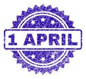 Rayé 1 APRIL Stamp Seal Illustration Stock