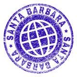 Rayé a donné à SANTA BARBARA Stamp Seal une consistance rugueuse illustration libre de droits