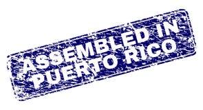 Rayé RÉUNI DANS PUERTO RICO Framed Rounded Rectangle Stamp illustration stock