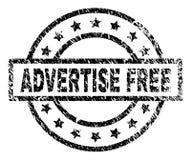 Rayé texturisé ANNONCEZ le joint LIBRE de timbre illustration libre de droits