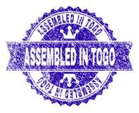 Rayé texturisé S'EST RÉUNI EN TOGO Stamp Seal avec le ruban illustration libre de droits
