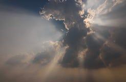 Ray światło na niebie Zdjęcia Stock