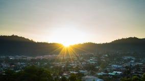 Ray światło przy Ampang doliną w Kuala Lumpur, Malezja Zdjęcia Stock