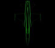ray x 3 d myśliwiec royalty ilustracja